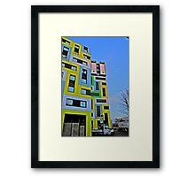 coloured blocks in HDR Framed Print
