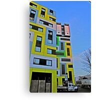 coloured blocks in HDR Canvas Print