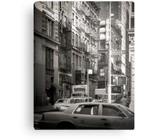 Toned streetscape in Broadway Metal Print