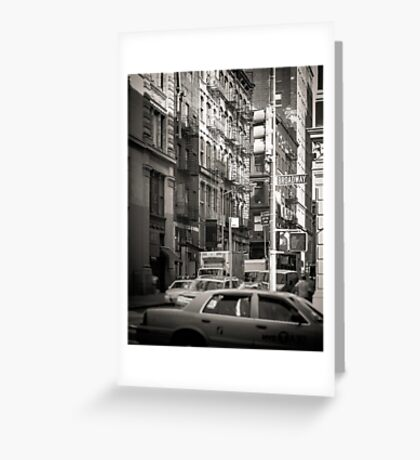 Toned streetscape in Broadway Greeting Card