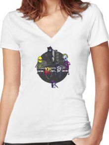 Batfinn and the Dog Wonder Women's Fitted V-Neck T-Shirt