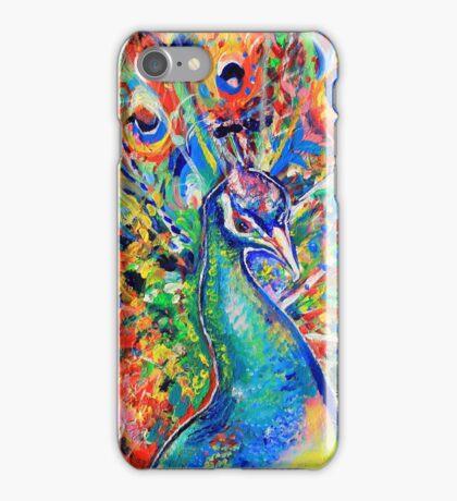 Colourful Peacock iPhone Case/Skin