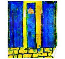 The Blue Doors of la Rue des Fauves Poster