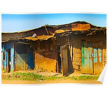 Vintage Street in Nairobi, KENYA at Sunset Poster