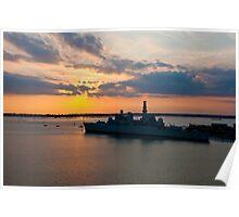HMS Bristol, Portsmouth Poster