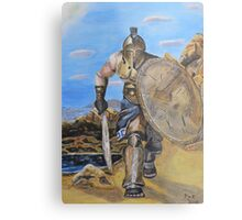 Spartan Warrior, One of the three hundred Metal Print