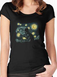 Vampire night Women's Fitted Scoop T-Shirt