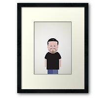 Ricky Gervais. Framed Print