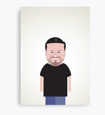 Ricky Gervais. Canvas Print