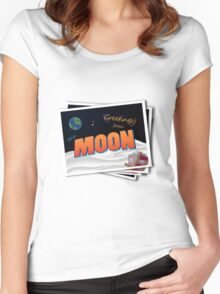 Greetings From The Moon Women's Fitted Scoop T-Shirt