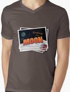 Greetings From The Moon Mens V-Neck T-Shirt