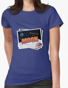 Greetings From The Moon Womens Fitted T-Shirt