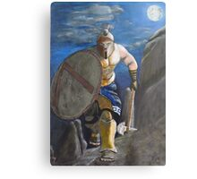 Spartan Warrior, One of the three hundred. (at Night) Metal Print