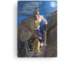 Spartan Warrior, One of the three hundred. (at Night) Canvas Print