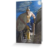 Spartan Warrior, One of the three hundred. (at Night) Greeting Card