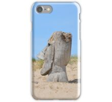 Figure Looking Over The Dunes iPhone Case/Skin