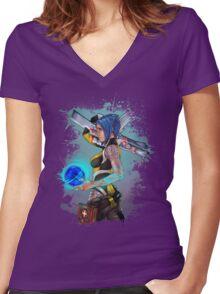 Borderlands 2 Maya the Siren Splatter Tee Women's Fitted V-Neck T-Shirt
