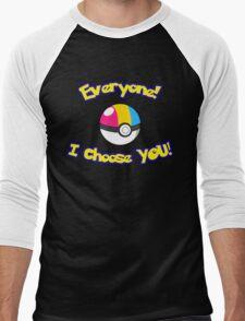 Parody: I Choose Everyone! (Pansexual) Men's Baseball ¾ T-Shirt