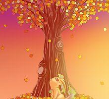 Leafeon's First Autumn by Ryan Rydalch