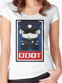 Police Hero'bot 1.1 Women's Fitted Scoop T-Shirt