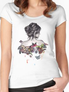 Butterfly Effect  Women's Fitted Scoop T-Shirt