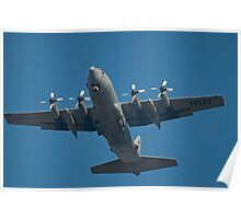 Air Force Plane ready to land. Poster