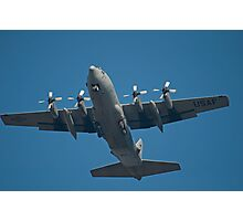 Air Force Plane ready to land. Photographic Print