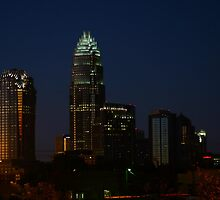 Charlotte Skyline At Night  by Patricia Betts