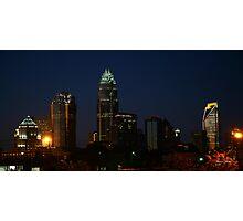 Charlotte Skyline At Night  Photographic Print