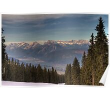 Mountains, straight ahead Poster