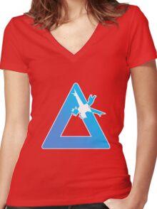 Latias logo Women's Fitted V-Neck T-Shirt