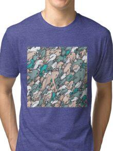 Fishes - blue Tri-blend T-Shirt