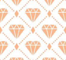 Peach Diamond Grid Pattern Sticker
