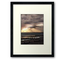 Sunset over Bognor Framed Print