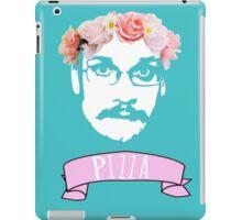 Hipster Pizza John - Blue iPad Case/Skin
