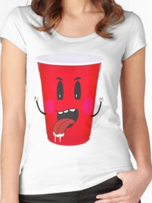 Cups Playing Beer Pong Women's Fitted Scoop T-Shirt