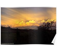 Golden Rays - Late Afternoon Sun on Clouds, County Antrim Poster