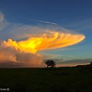 Celestial Sky - Sunset and Cloud Formation, County Antrim. by Laura Butler