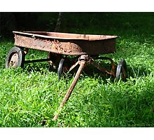 Watch The Paint Peel on My Lil Red Wagon Photographic Print