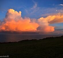 Rose Glow - Sunset on Clouds - County Antrim. by Laura Butler
