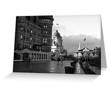 Boardwalk in Quebec ~ Black & White Greeting Card