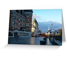 Boardwalk in Quebec Greeting Card