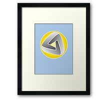 Curvy Mobius Triangle T-shirt Framed Print