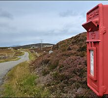 Postbox at Bagh a Chaise, North Uist by Richard Ion