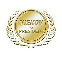 Chekov for President Photographic Print