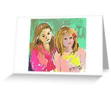RETRATO, sobrinas. Greeting Card