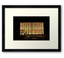 In the heart of a Saturday night... Framed Print