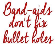 don't fix Bullet Holes Photographic Print