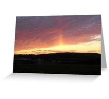 To Greet us- awesome skies Greeting Card