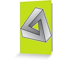 Mobius Triangle (Angular) Greeting Card